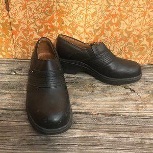 Ariat Steel Toe Black Leather Clogs 8